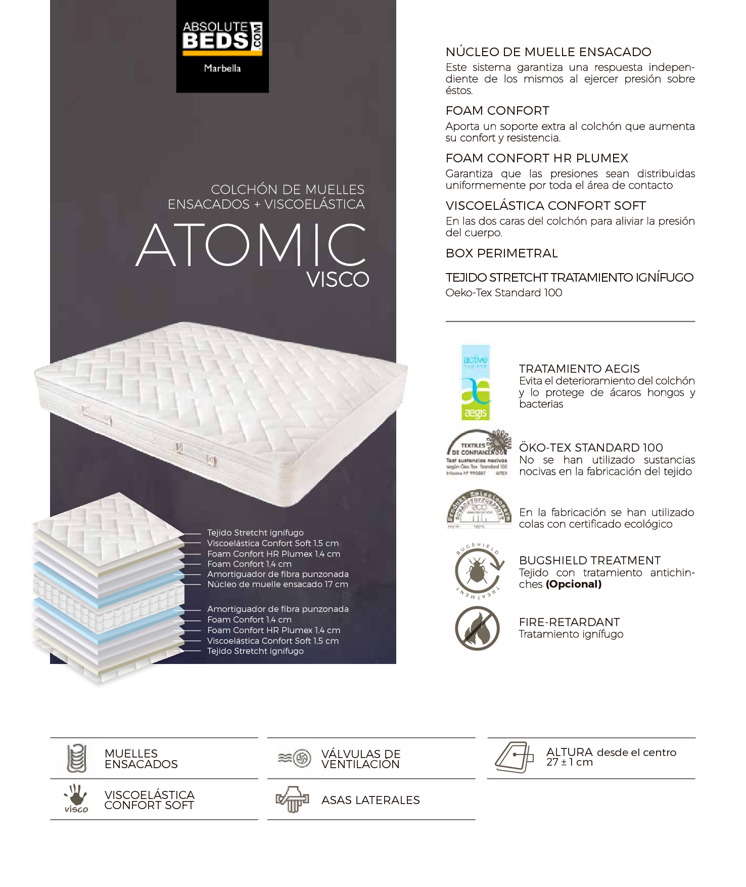 Ficha Atomic Visco Absolute Beds