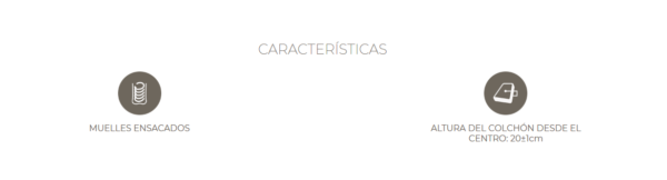 Colchón Sira XS de Astral Muelles ensacados + viscolástica