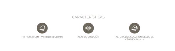 Colchón Arena Astral HR + Viscolástica y viscolástica de carbono