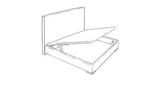 Canapé Zoco II base tapizada de Astral beds