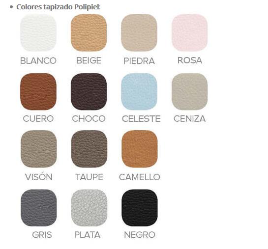 colores tapizados polipiel
